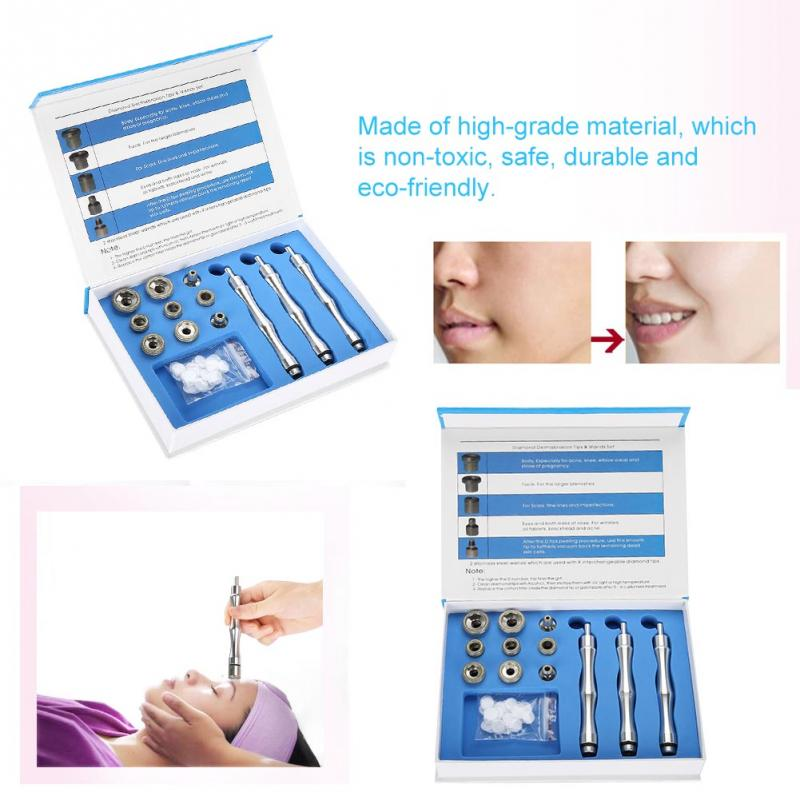 9 Tips +3 Wands Diamond Dermabrasion Accessory Tips Diamond Wands Cotton Filter Skin Peeling Microdermabrasion Skin Rejuvanation