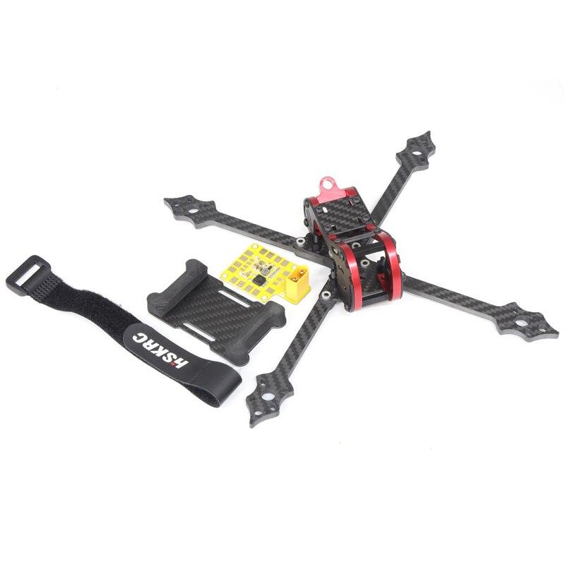 Empattement 218mm 4mm fibre de carbone RC Drone FPV Kit de course HSKRC X218 quadrirotor bricolage Rack cadre ensemble adaptant CC3D/F3/F4 FC 20-30A