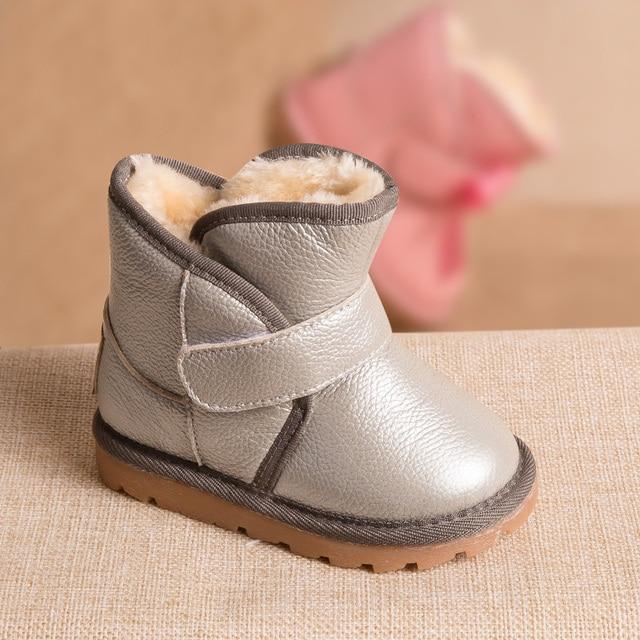Phynier Kış 1-3-5 yaşındaki çocuk kar botları sıcak erkekler ve kadınlar pamuk çizmeler bebek yürümeye başlayan ayakkabı kısa cilt