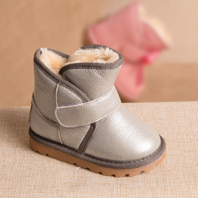 Phynier Winter 1-3-5 year old children snow boots warm men and women cotton boots baby toddler shoes short skin