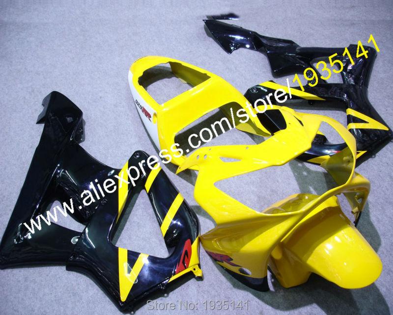 Горячие продаж,для Honda CBR900RR ЦБ РФ 929 2000 2001 CBR900 рублей 00 01 желтый черный белый мотоцикл пластиковый обтекатель (литье под давлением)