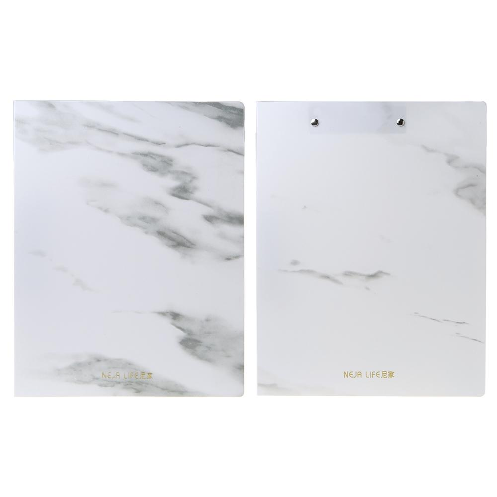 Marble Pattern PP A4 File Information Folder Document Holder Business Briefcase For Office School Students Gifts Supplies