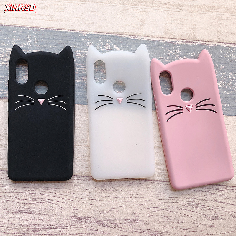 big sale fbe46 6d478 US $2.58 15% OFF|Redmi Note 5 pro Cases 3D Cute Beard Cat Cases for Xiaomi  Redmi 5 6 4A Note 4X 5A 3 4 Silicone Soft TPU Glitter back Cover Coque-in  ...