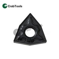 Crab Tools Korloy 10PC WNMG080404 HM NC3120 Metal Turning Lathe Tools Turning Cutter Carbide Insert CNC Tool Tip Machine