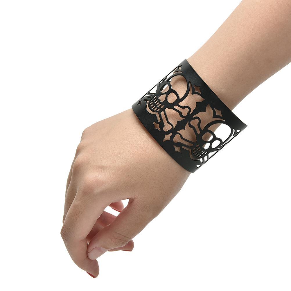 2016 Women Men Black Punky Style Hollow Cuff Retro Braid Big Metal Bangles Fashion Charm Vintage Wide Bracelet