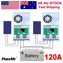 PowMr 120A 100A 60A MPPT Solar Charge Controllers 12V 24V 36V 48V Auto 190V PV LCD Display Lead Acid Lithium Battery Regulators etracer et6415bnd solar panel controller mppt high efficiency 60a 60amp with wifi and mt50 12v 24v 36v 48v auto type