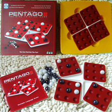 Bead Plate Rotating Pentago Game Intelligence Family Board Game Ideas Renju Educational Toys Board Games for Kids Christmas Gift