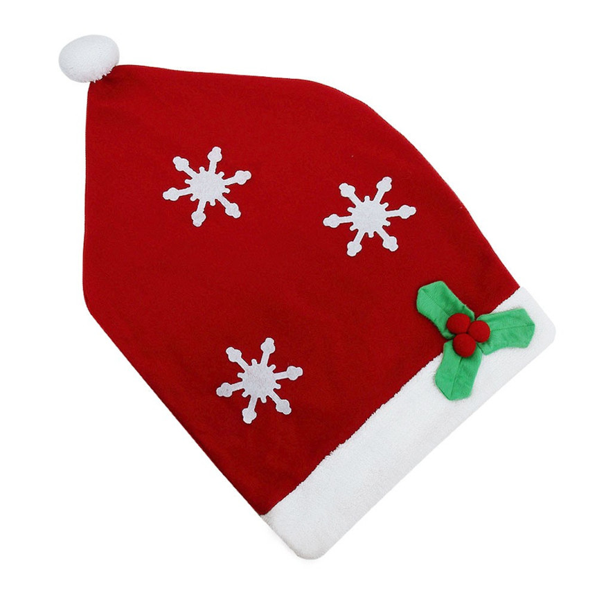 Lovely Pet 1PC Chair Covers Christmas Santa Hat Cap Dinner Table Decor Party Gift