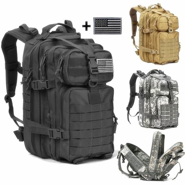 Armée Sac 40L Militaire Dos Tactical Pack Étanche À Assault Molle IRq0wpqxUv