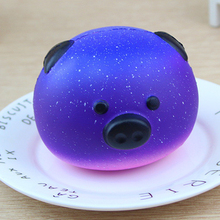 ФОТО abwe best sale cute squishy slow rising soft squishy charms toy for stress relief and time killing starry pig