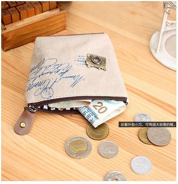 Women Canvas Coin Purse Cute Vintage Wallets Storage Bags Monederos Card Bags Bolsas Carteira Feminina women plush coin purse cute totoro hello kitty wallets storage bags monederos card bags bolsas carteira feminina coin bag