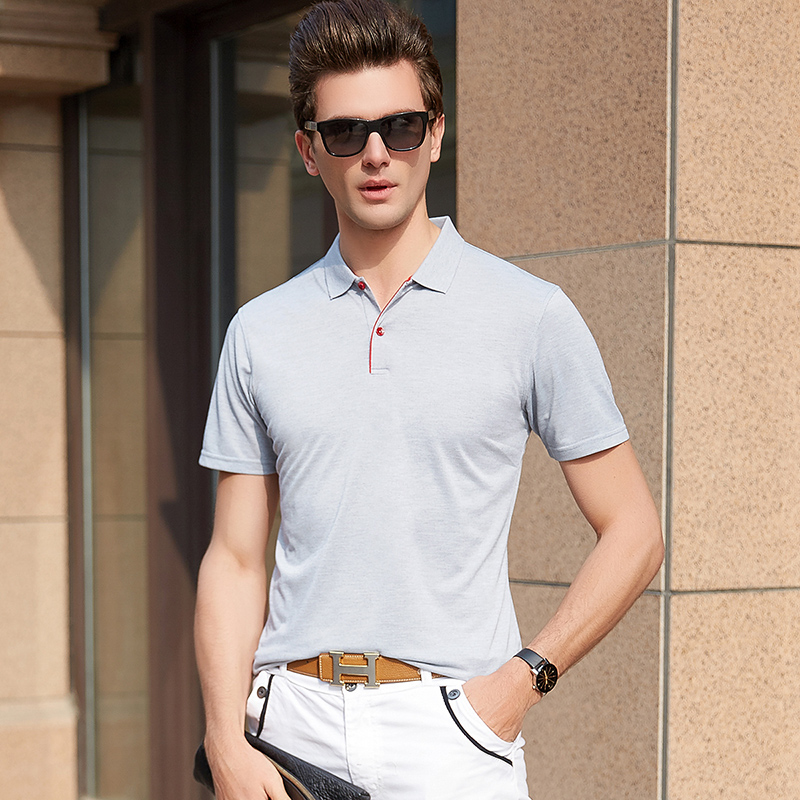 2019 New Fashion Brands   Polo   Shirt Men's Solid Color Summer Short Sleeve Slim Fit British Style Poloshirt Casual Men Clothes