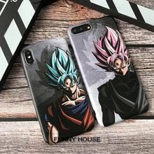 Japan Cartoon Goku Soft Case For Iphone X Xs Max Xr 8 7 6 6s Plus Silicon Phone Cover Dragon Ball Saiyan Coque Fundas Capa 8plus цена и фото