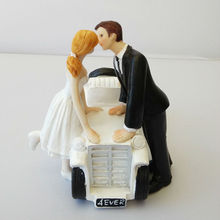Free Shipping Romantic Bride And Groom Motorcycle Cake Toppers For Wedding Cakes Event Party Supplies
