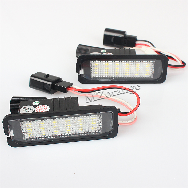 2x LED 1Pair Error Free 18* LED Number License Plate Light For VW Volkswagen Golf 4 5 6 GTI EOS Lupo Passat Polo led waterproof number white license plate light lamps obc error free 18 led for bmw x3 e83 x5 e53