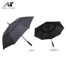 NX Creative Large double-layer golf umbrellas 145cm strongs windproof resistant usiness long umbrella for men umbrella