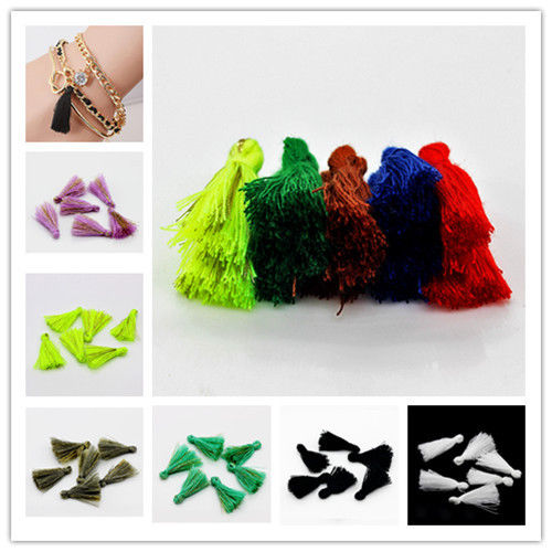 30PCS 25mm Handmade Silky Tassels Decoration Pendant Key Chains Bag Accessories