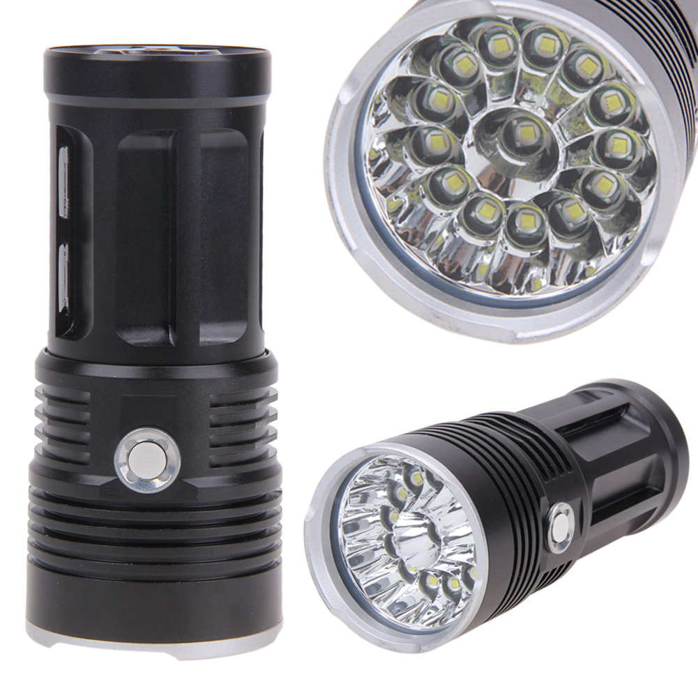 340000 Lumen 14x XM-L T6 LED Waterproof Tactical 5 Modes Titanium LED Lamp Powerful Flashlight Torch for Hiking Camping super bright tactical 3 modes 18000 lumen 9x xm l l2 led powerful flashlight torch for hiking camping hunting battery charger