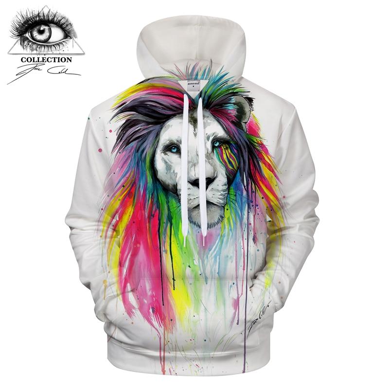 Rainbow Mane by Pixie cold Art 3D Prints Hoodies Men Clothing Brand Men Sweatshirt Pullover Drop Ship Plus Size ZOOTOP BEAR
