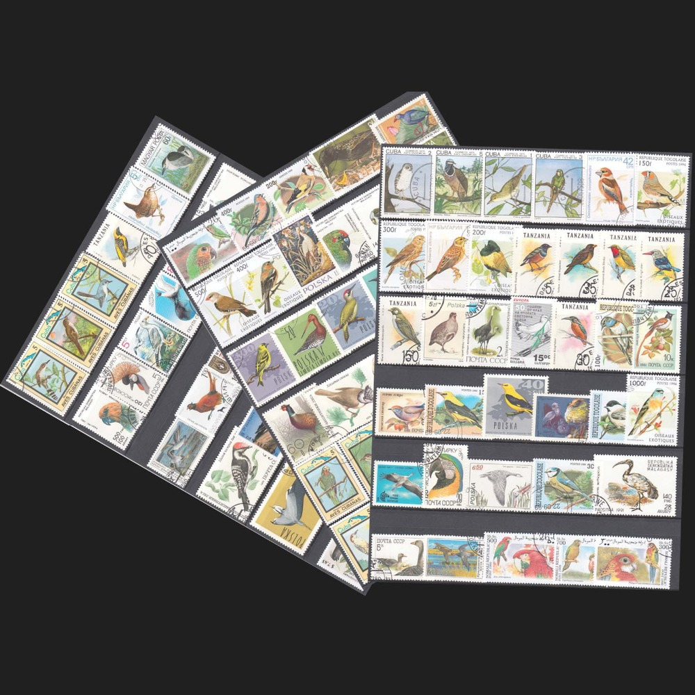 100 PCS/lot , Birds Postage Stamps No Repeat , Many Coutry With Post Mark For Collecting