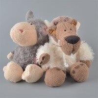 2 Adet Yepyeni 25 cm Gri Renk Koyunları Ve Beyaz Kurt Peluş Oyuncak, bebek Çocuk Bebek Hediye Ücretsiz Kargo