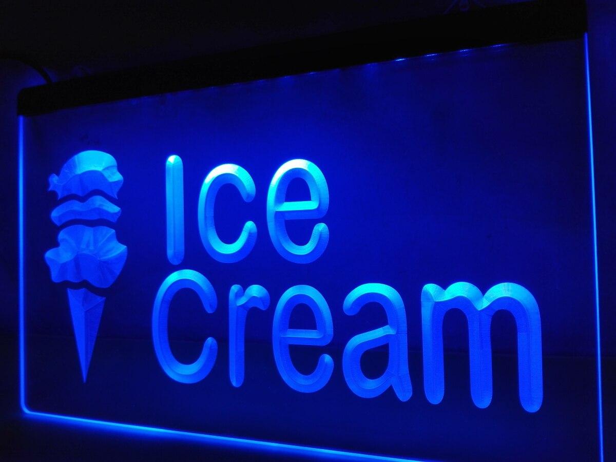 Mini light sets for crafts - Lb113 Open Ice Cream Cafe Mini Bar Nr Led Neon Light Sign Home Decor