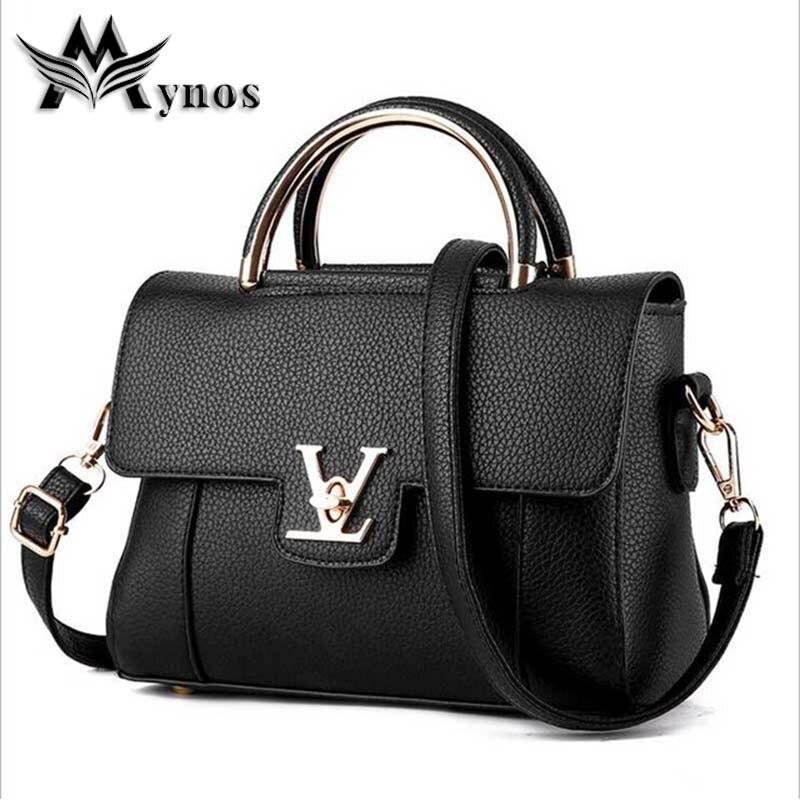 62abbbe7e6f2 Mynos High Quality Designer Leather Handbag Crossbody Bag For Women ...