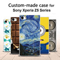 Para sony xperia z5/z5 compact mini/z5 + premium case, 3d feito sob encomenda dos desenhos animados pintado tampa traseira case for sony xperia z5 series