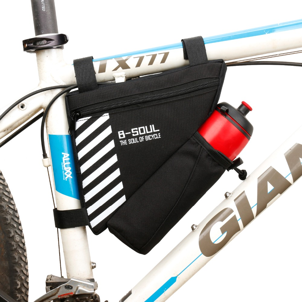 Bike Bicycle Cycling Front Frame Rack Triangle Bag Water Bottle Holder Tube Bag