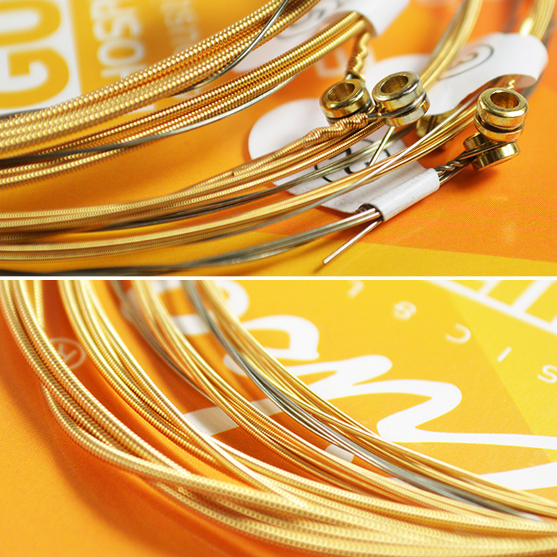 Купить с кэшбэком Ziko Acoustic Guitar Strings 010 011 012 Phosphor Bronze 6 Strings For Acoustic Guitar One Set Guitar Musical Instruments Parts