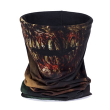 3D Zombie Face Multi Scarf Riding Seamless Pañuelo para hombres y mujeres Featured Bandana Headband
