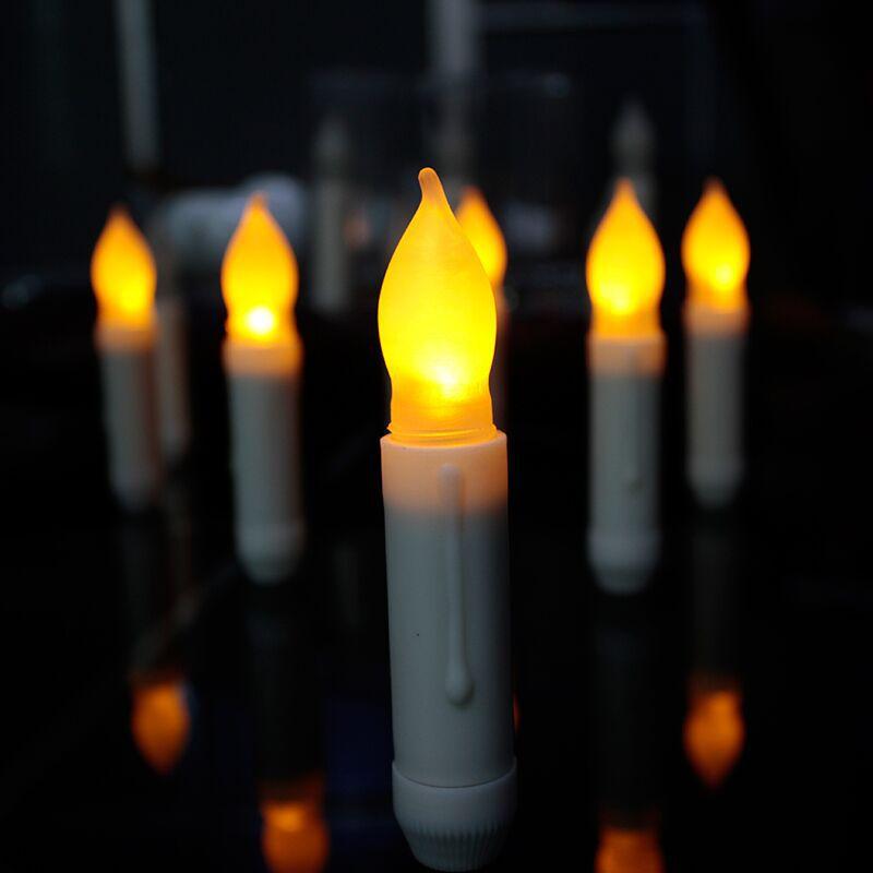 Duża promocja Świeca nocna lampka LED Moving Kolorowy płomień - Lampki nocne - Zdjęcie 4