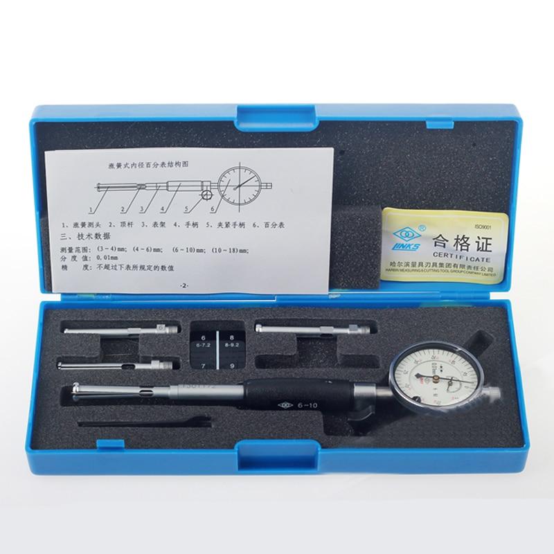 Precision Tool 0.01mm Dial Test Indicator Inner Diameter Dial Indicator Metalworking 6 10mm 0 3mm Dial Gauge Micrometer Measur