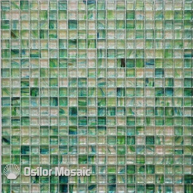 Livraison gratuite tuile de mosaïque en cristal de verre vert pour ...