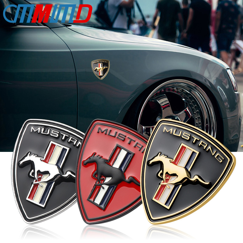 Mustang Pony 3D Logo Sticker Badge Chrome effect