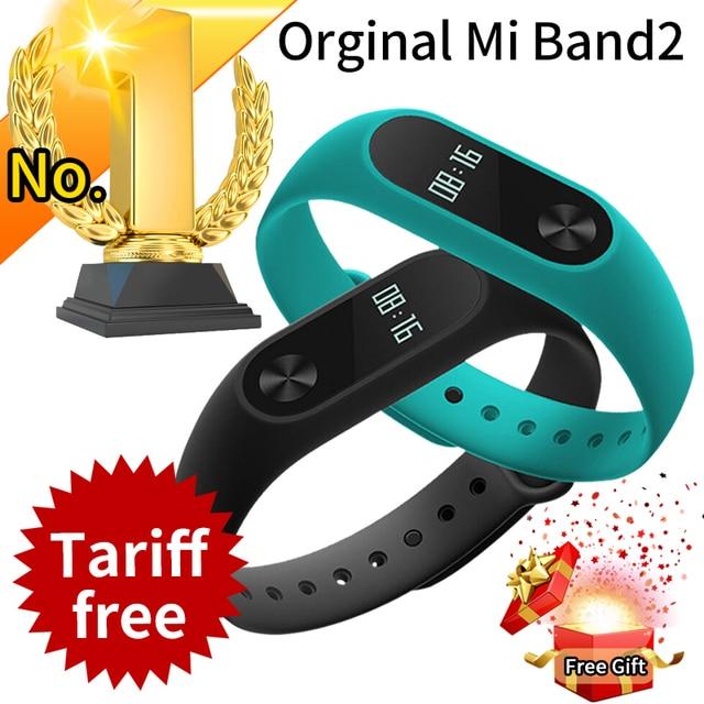 Promotie! originele Xiaomi Mi Band 2 Miband Band2 Polsband Armband met Smart Hartslag Fitness Tracker Touchpad OLED Strap