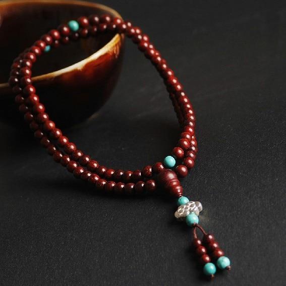 6 Mm Redsandalwood Mala Indiase Redsandalwood Kralen Sieraden Tibetaanse 108 Gebed Kralen Tibetaans Mala