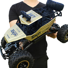1:12 1:16 RC Cars 4WD Double Motors Drive 2.4G Electric Radio Remote Control Off-Road Climbing Bigfoot Car Kid Gift Toys for Boy цена
