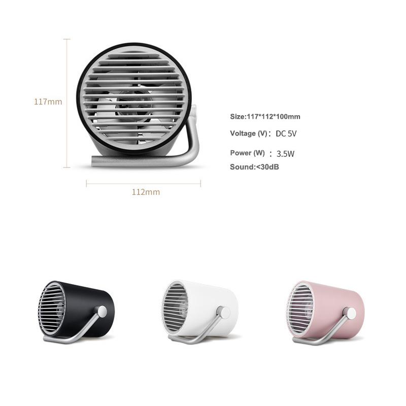 Portable Mini USB Desk Fan Rechargeable Battery Fan Silent Creative Home Office Desktop Fan With Fan Blades Blower Second Gear (6)