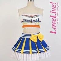 Japanese Anime Love Live Cosplay Costume Eli Ayase Cheerleading Uniforms Any Size Customized All Set
