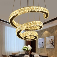 Crystal Pendant Lights LED Crystal Creative Personality Living Room Lamp Designer Duplex Building Villa Staircase LU815305