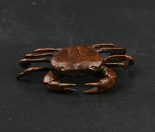 43MM/1.7 Collect Curio Rare Chinese Fengshui Bronze Exquisite Animal Crab Eriocheir Sinensis Hairy Mitten Statue 17g