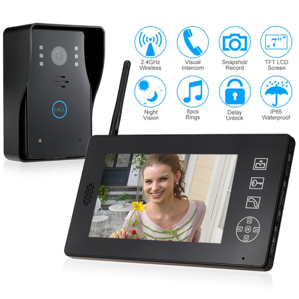 Smart Wireless Security Video DoorBell Visual Recording Consumption Remote Home Monitoring Night Vision Smart Video Door Phone smart wireless wifi security video intercom doorbell visual recording consumption remote home doorbell video door bell ring cam