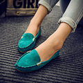 New Spring Women Flats Shoes Round Toe Fashion Cute Slip on Women's Ballerina Causal Comfort women Loafers Shoes Faux Suede
