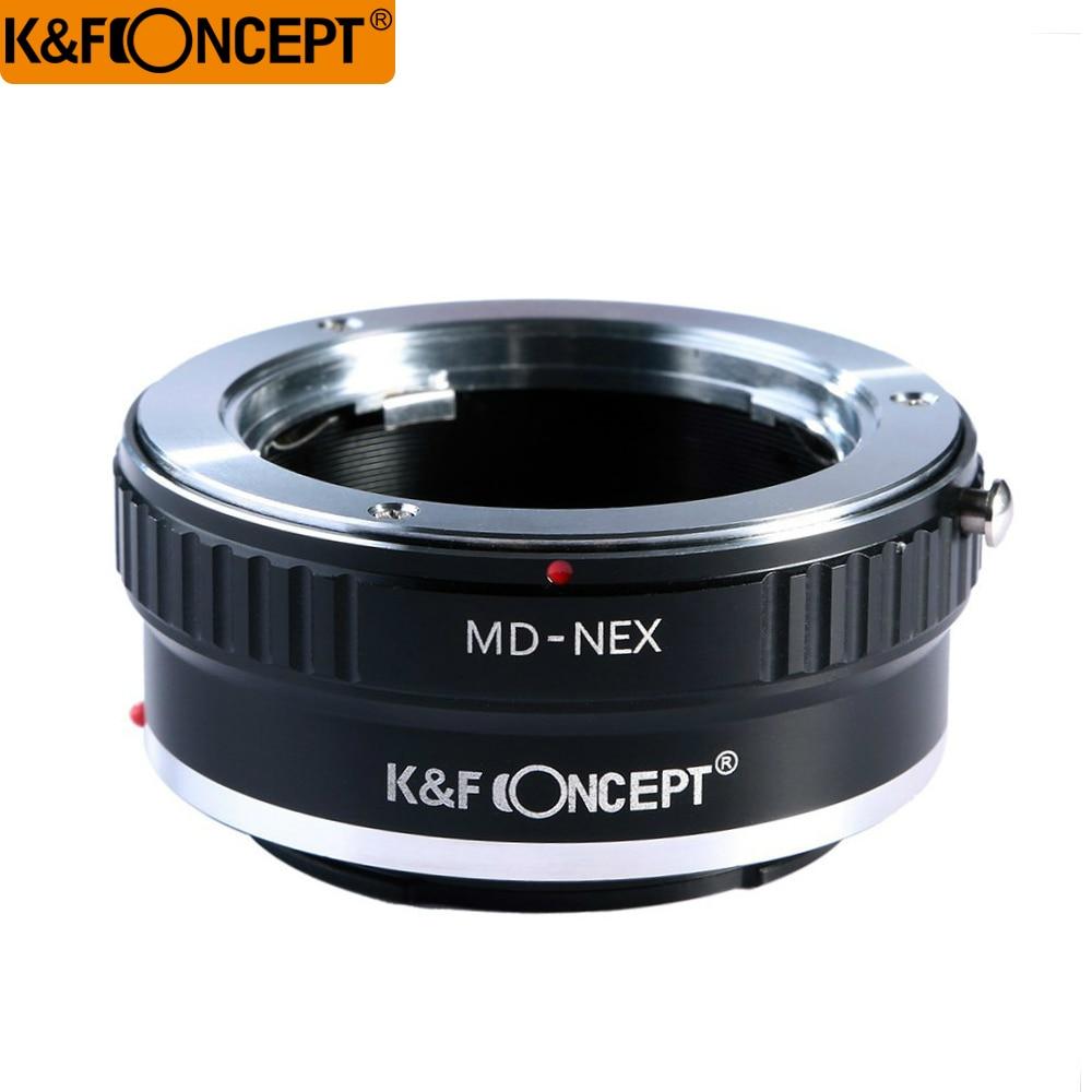 حلقة محول العدسة K&F CONCEPT MD-NEX لعدسة Minolta MD إلى كاميرا NEX E-mount NEX-7 6 5R 5n F5 VG20 VG30