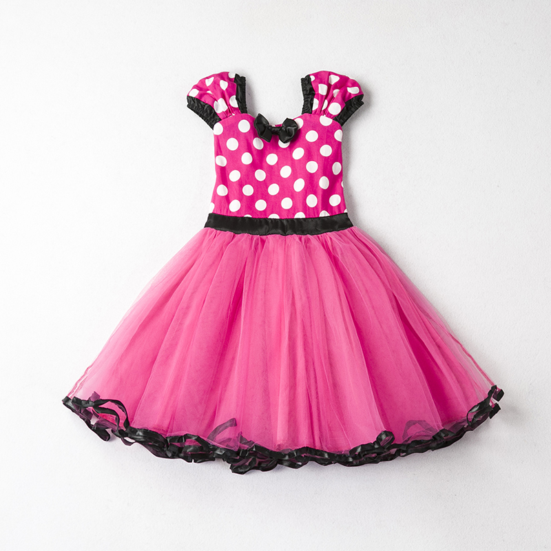 Cute Girl Dress Children Halloween Costume For Kids Clothes Princess Dress Robe Fille Toddler Girl Red First Birthday Outfit