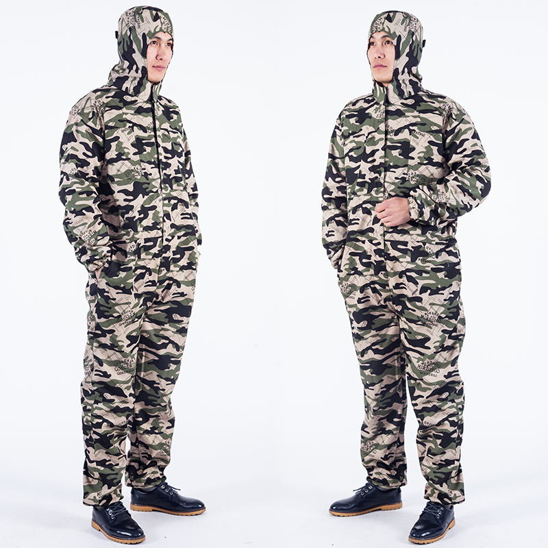 Men Work Clothing Long Sleeve Hooded Dust proof Coveralls Camouflage Anti pollution Painting Auto Repair Overalls