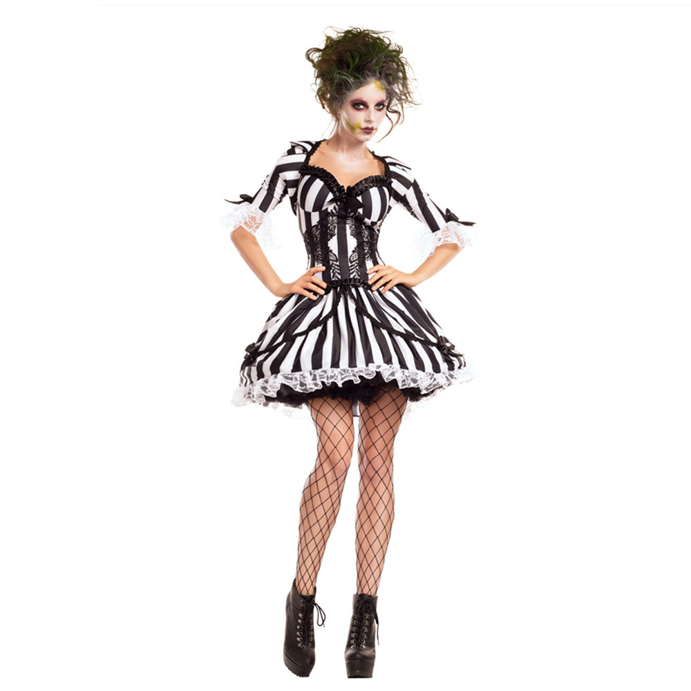 Crazy Halloween Decorations: Miss Beetlejuice Costume Sexy BugJuice Babe Crazy Spirit