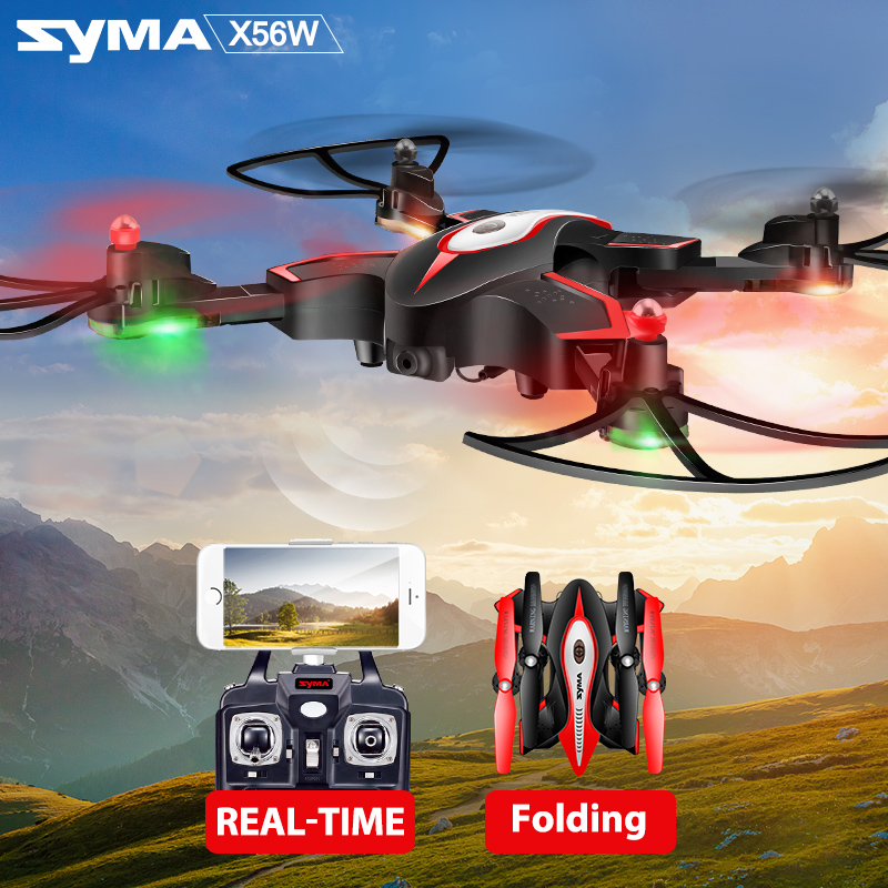 SYMA X56 X56W Remote Radio Control Drone Quadcopter RC Helicopter With Camera Foldable Hover Air Selfie Helicopter VS SYMA X5SW
