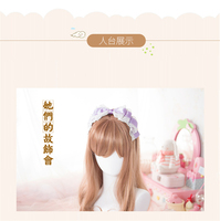 2017 hair accessories DIY LOLITA bow +headband bowknot hairdress ribbon hairpiece lace Free Shipping